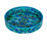 IncredibleThings Blue Designer Round Tray ( 1 Pc )