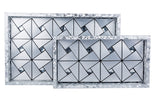 IncredibleThings Silver Diamond Tray Set ( 2 Pcs )