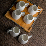 Hi-Luxe 6 Pieces Mugs with Tray