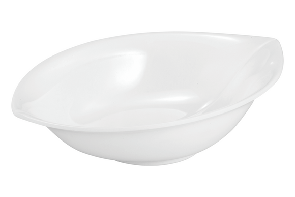 DW LEAF OVAL BOWL White