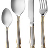 Bergner Almaz 72 pc Cuttlery Set , Gold and Matt