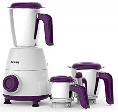 Philips Daily Collection HL7505/00 500-Watt Mixer Grinder with 3 Jars (White)