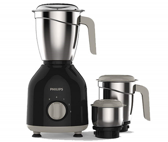 Philips Daily Collection HL7756 750 Watt Mixer Grinder with 3 Jars (Black)
