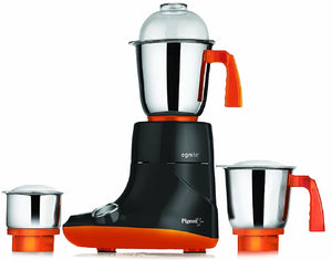 Pigeon Egnite 750-Watt Mixer Grinder with 3 Jars (Black/Orange)