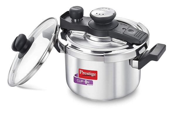 Prestige Clip-on Svachh Stainless Steel Pressure Cooker