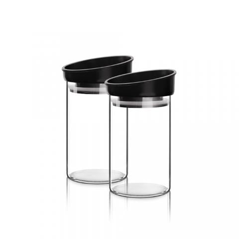 Treo Steko Borosilicate Stackable Jar , 470 ml, Set of 2