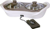 Jaypee Plus Electric Casserole Set of 2 E. Warmer 1150 ml (White / Ivory / Beige)