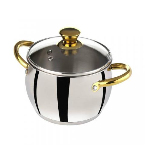 Bergner Acier Stainless Steel Casserole with Lid, 2.5 L
