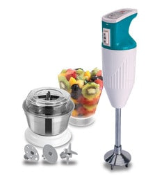 Cello Blend and Mix Rapid Hand Blender with SS Chutney Jar, 200 Watt