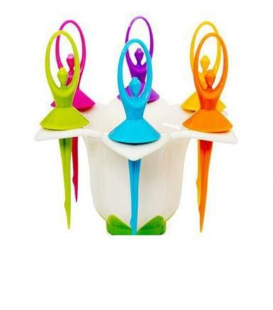 Flower Fairy Fruit Fork Set