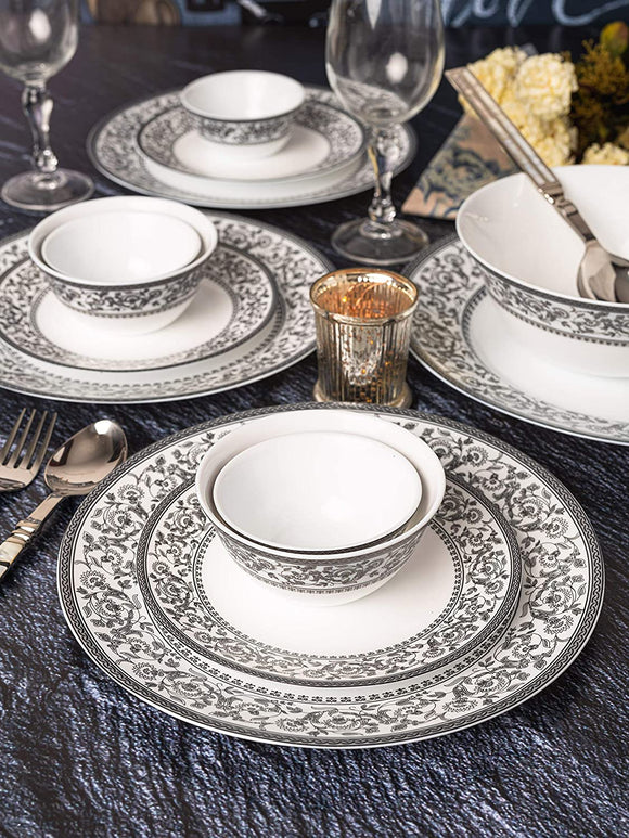 LaOpala Sovrana Persian Gray Dinner Set (Set of 33pcs)