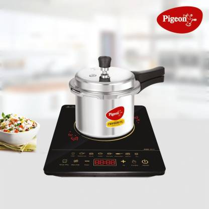 Pigeon Touch Induction Combo Acer Plus Touch Induction cooktop 1800 watts with - AL Favourite Pressure cooker 3 LTR IB outer lid