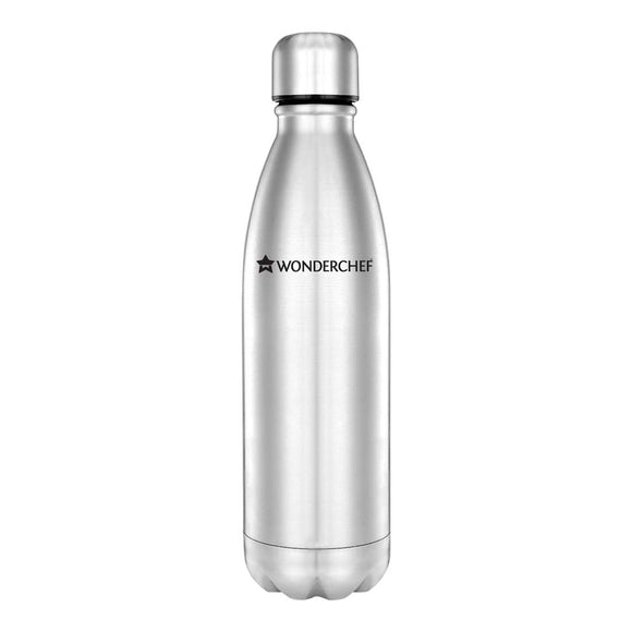 Wonderchef HydroBot Stainless Steel Water Bottle 750 ml (SS Finish)