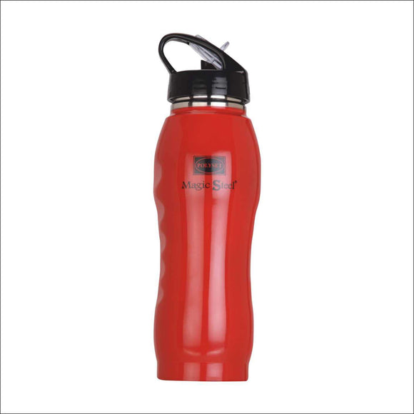 Polyset Bolt Stainless Steel Water Bottle, 700 ml, 1-Piece, Red