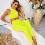 Neon Splash Bra & Leggings Set-Divine Vibes