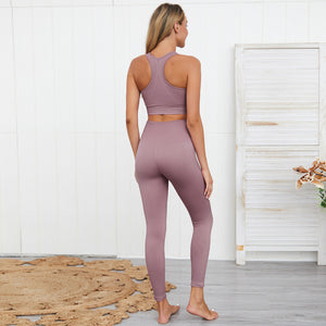 Solid Bra & Leggings Set