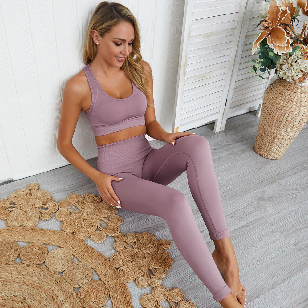 Solid Bra & Leggings Set-Divine Vibes