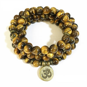 Natural Tigers Eye Mala Bracelets