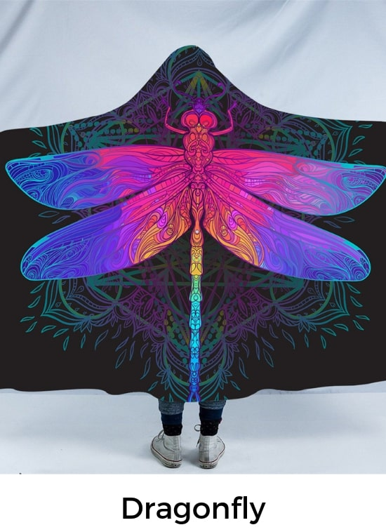 Dragonfly Hooded Blanket