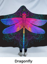 Dragonfly Hooded Blanket-Divine Vibes