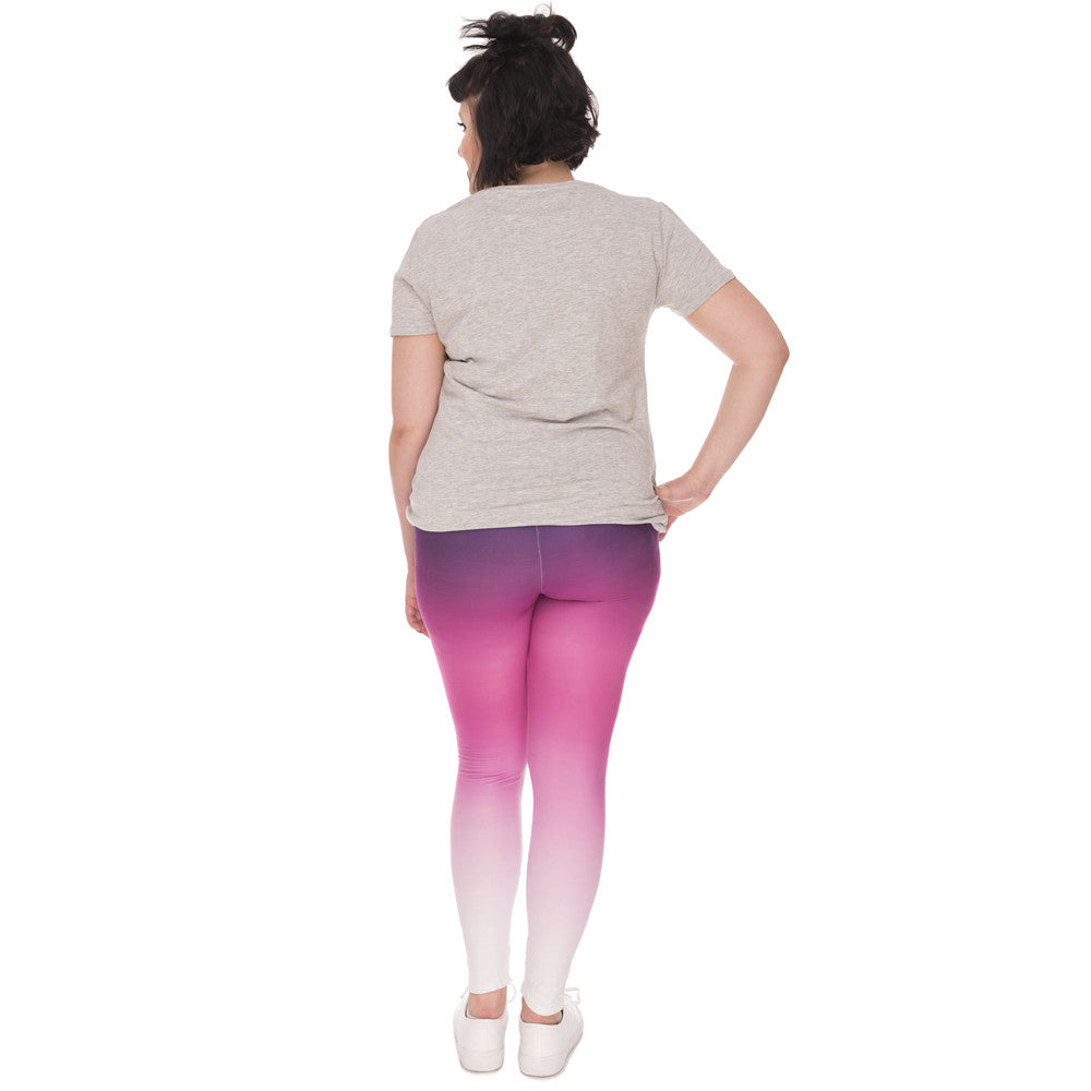 Ombre High Waist  Plus Sized Leggings