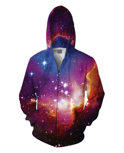 Cosmic Forces Zip-Up Hoodie - Divine Vibes