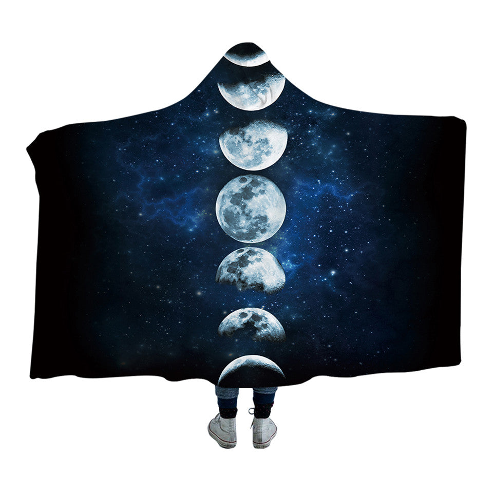 Moon Phases Hooded Blanket