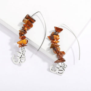 Natural Stone Bead Earrings