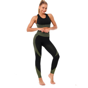High Waist Seamless 3-Pc Workout Set-Divine Vibes
