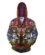 Trip Tree Zip-Up Hoodie
