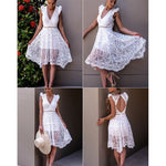 Pure Elegance Lace Dress-Divine Vibes