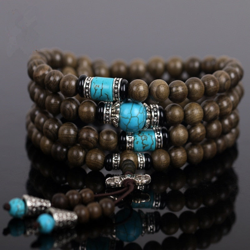 Natural Ebony Mala Bracelet