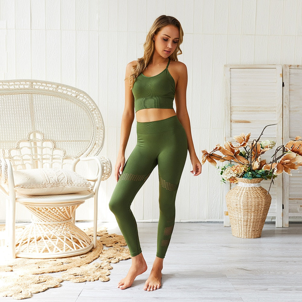 Yogi Passion Bra & Leggings Set-Divine Vibes