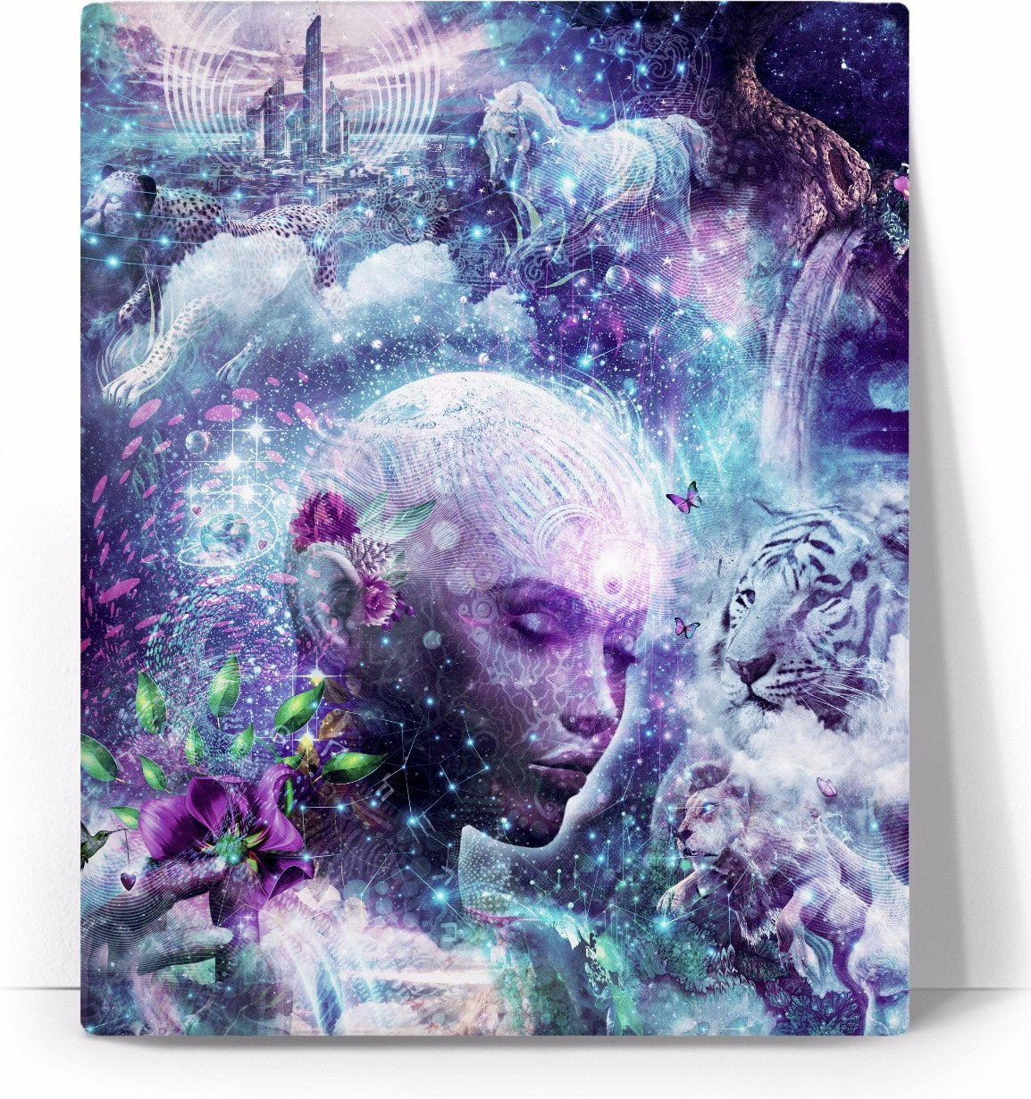 Discovering The Cosmic Consciousness - Canvas Art Print - Divine Vibes