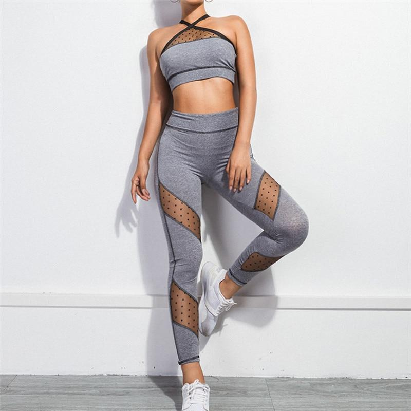 Optimistic Grey Bra & Leggings Set-Divine Vibes