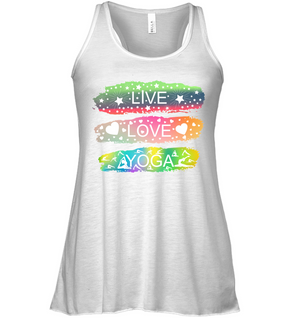 Peace Love Yoga Flowy Tank