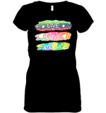 Peace Love Yoga V-neck Tee