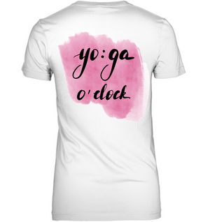 Yoga O' Clock V-neck Tee
