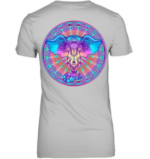 Colorful Ganesha V-neck Tee