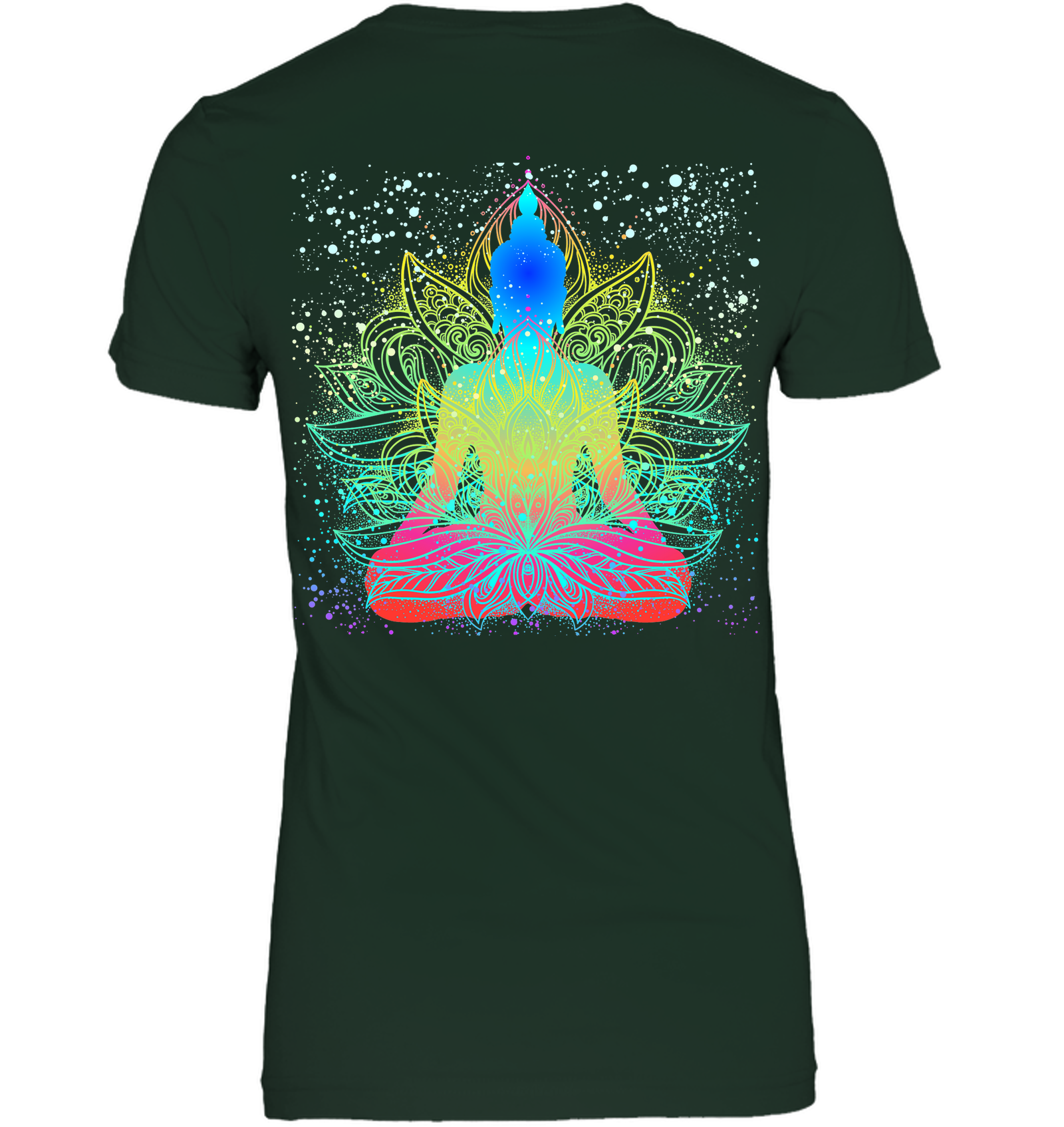 Meditating Buddha V-neck Tee