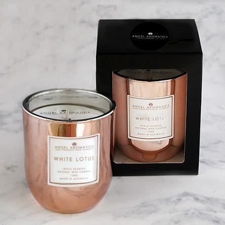 Small Candle - Rose Gold White Lotus - 130g