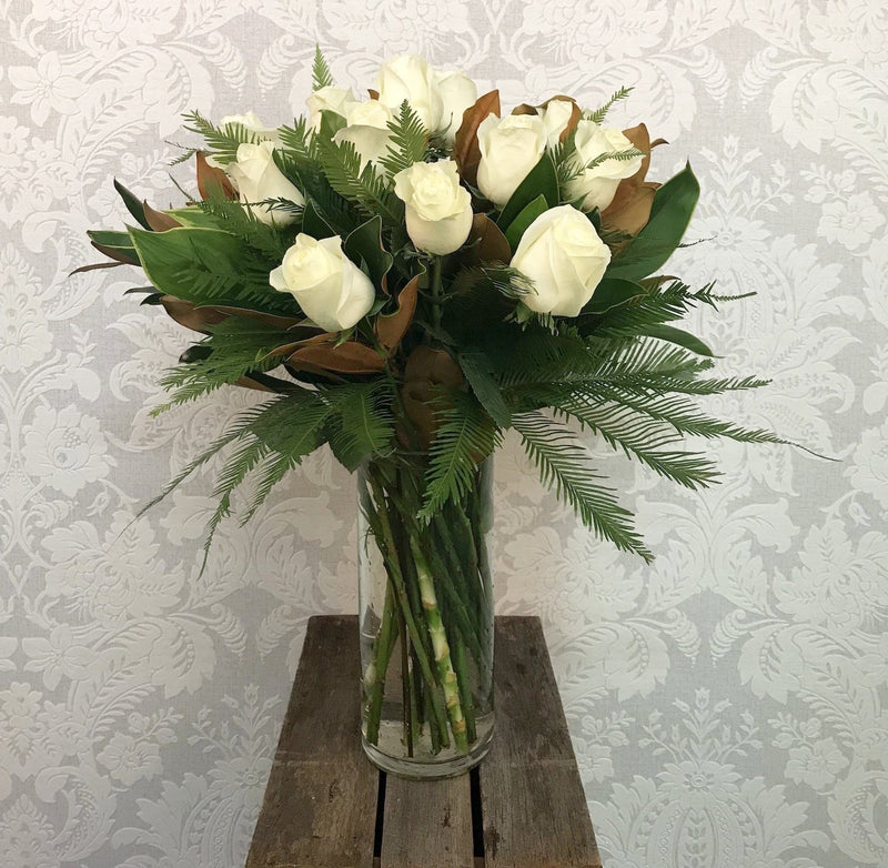 White Roses In The Vase