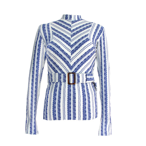 The Deep See Stripe Long-Sleeve Top