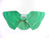 The Petal Collar in Green Satin