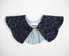 The Leopard Denim Petal Collar