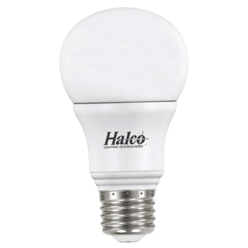 Halco 80974 9 Watt LED A19 3000K 120V 82 CRI Medium (E26) Base White Bulb (A19FR9/830/ECO/LED)