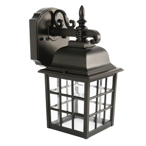 Feit Electric LED 11 Watt 2700K 450 Lumen 120V Security Outdoor Lantern Black Fixture- 2 Pack (73897)