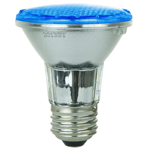 Sunlite 3 Watt PAR20 LED 120V-220V 30 Lumen COLORED Reflector Light Bulb Medium (E26) Base - Blue (80001-SU)