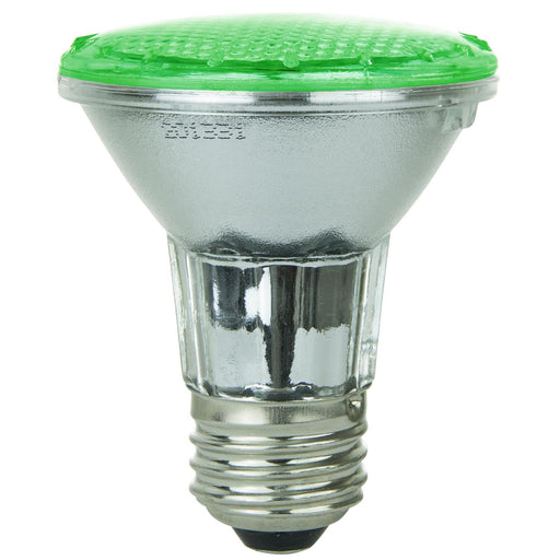 Sunlite 3W 120V PAR20 Flood 30DEGREE Green LED Light Bulb - Medium Screw Base