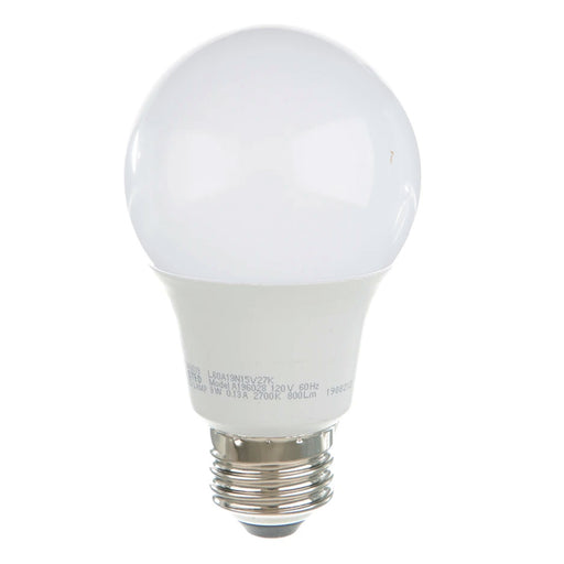 TCP 9W A19 LED 2700K 120V 800 Lumen 80 CRI Medium E26 Base Non-Dimmable Bulb (L60A19N15V27K)